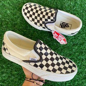 Vans Classic Slip On Checkerboard Glitter